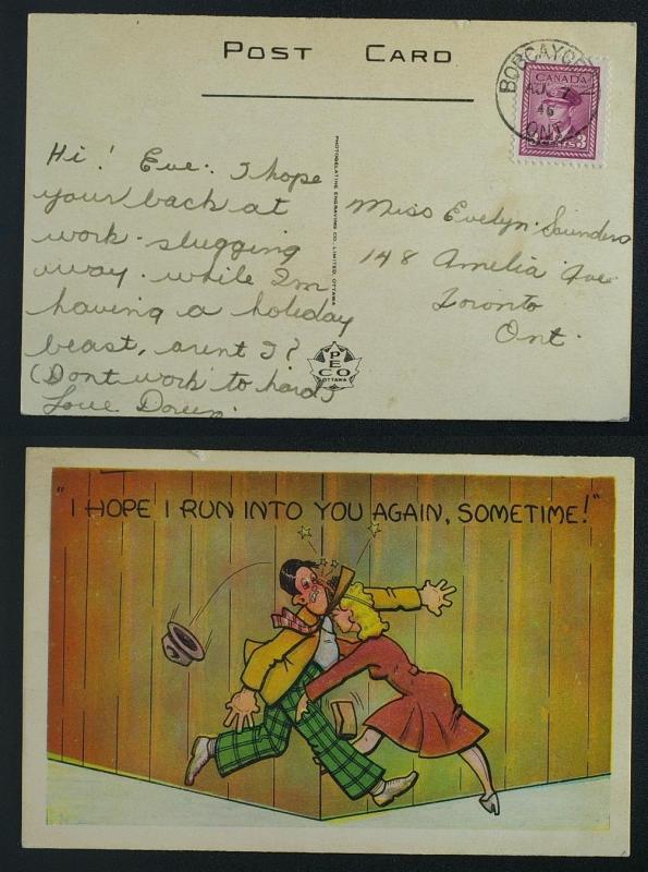Humourous PECO postmarked Bobcaygeon 1946