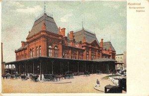 Montreal, Canada BONAVENTURE STATION Railroad Depot c1910s Vintage Postcard