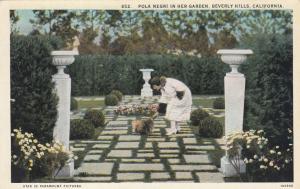 Pola Negri In Her Garden, BEVERLY HILLS, California, 1910-20s