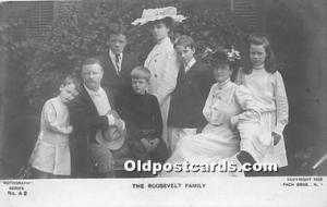 Real Photo The Roosevelt Family Unused wear left bottom corner