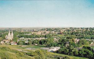 Skyline View of MEDICINE HAT, Alberta, Canada, 40-60's