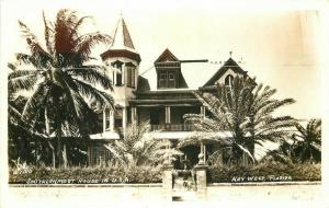 Key West Florida 1940s RPPC Photo Postcard Southernmost House 4150