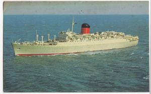 Liner RMS 'Franconia', Cunard Line PPC, 1966 Expo 67 PMK To Poole, GB