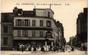 CPA  Charenton - Rue de Paris et Rue Gabrielle (659754)