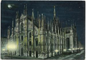 MILANO, Il Duomo, Notturno, Dome by night, unused Postcard