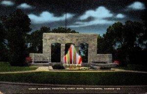 Kansas Hutchinson Carey Park Carey Mmemorial Fountain
