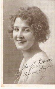 Hazel Dawn. Famous Player  Old vintage American postcard