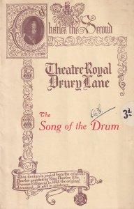 The Song Of The Drum Derek Oldham Musical Drury Lane 1930s Theatre Programme