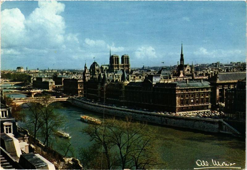 CPA MONIER ALBERT-10134. Paris-La Seine-Palaus de Justice-Notre Dame (331709)