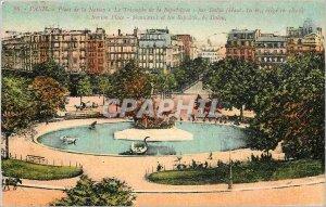 Old Postcard Paris Place de la Nation The Triumph of the Republic
