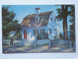 Old Smith Homestead, Rockport MA Vintage Chrome Postcard Artist Stanley Woodward