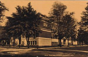 ELKHART, New Central School, Indiana, PU-1909