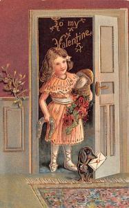 Valentines Day Post Card Old Vintage Antique Postcard 1909