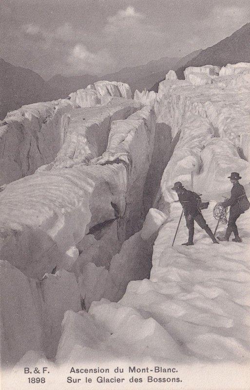 Ascension Du Mont Blanc Sur Le Glacier Des Bossons Swiss Postcard