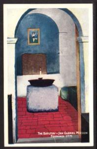 Bapistry San Gabriel Mission San Gabriel CA Post Card 5630
