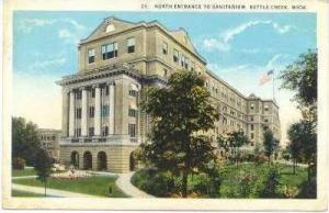 North Entrance to Sanatorium, Battle Creek, Michigan, PU-1924