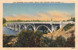8553  SC Columbia  Jefferson Davis Highway  Bridge over Congaree River