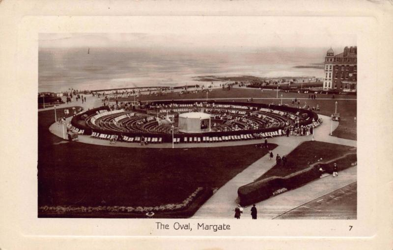 Postcard REAL PHOTO Vintage 1929 The Oval Margate Kent