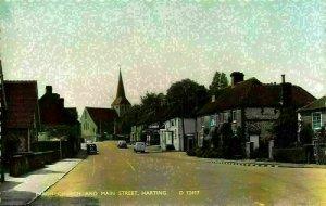 Parish Church and Main Street Vintage Cars Harting Postcard