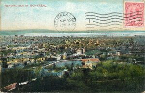 Postcard Canada general view of montreal panoramic view city town
