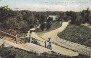 Trail to Trout Lake - Seneca Park NY, Rochester, New York - pm 1908 - DB