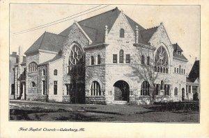 First Baptist Church, Galesburg, Ill.