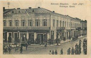 Ukraine Kolomyia Kolomyya Colomeea Rynek cafe city ( crease ) postcard