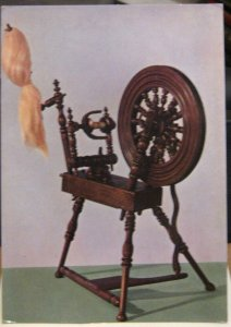 Postcard Social History Saxony type Spinning Wheel - unposted