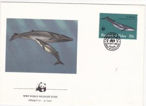 Republic of Palau , 1983 , Fin Whale ; Official First Day Cover