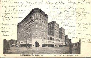 Virginia Norfolk The Monitcello Hotel 1904