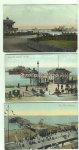 tp9799 - Sussex - Three Cards, Views of the West Pier, in Brighton - postcard