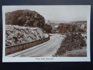 Staffordshire NEWCASTLE UNDER LYME Priory Road c1950's RP Postcard by W. Parton