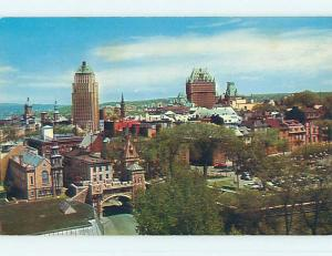 Pre-1980 TOWN VIEW SCENE Quebec City QC p9629