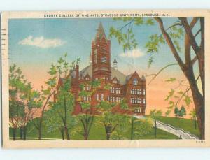 Fine Arts College At Syracuse University Syracuse New York NY L9413