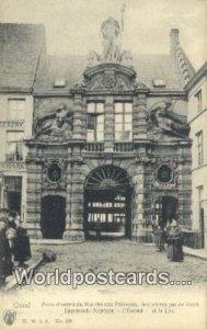 Porte d'Entr»e du Marche aux Poissons Gand, Belgium Unused