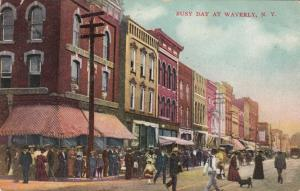 WAVERLY , New York , PU-1908 ; Busy Day