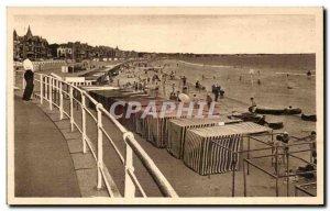 Old Postcard La Baule on Sea The Beach