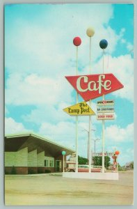 Hastings Nebraska~The Lamp Post Cafe~Neon Sign~50s Car~Dilly's~1960s
