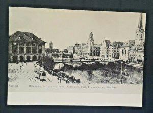 Mint Vintage Germany Train 1903 Minster Bridge Town Hall Real Photo Postcard