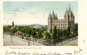 UT - Salt Lake City. Temple Square circa 1906