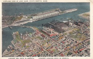 SOUTH BOSTON, Massachusetts, PU-1930; Airplane View Of Army Base