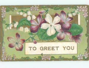 Divided-Back BEAUTIFUL FLOWERS SCENE Great Postcard AA2929