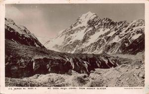 New Zealand Mount Cook From Hooker Glacier Landscape Postcard