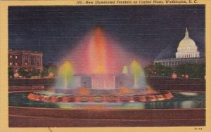 New Illuminated Fountain On Capitol Plaza Washington DC