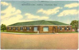 Linen of Blackwood Clinic Hospital Comanche Texas TX 1950