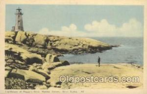Peggy's Cove, Halifax County USA Lighthouse, Lighthouses Postcard Postcards  ...