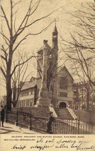 USA Soldiers Monument And Baptist Church Marlboro Massachusetts 05.34