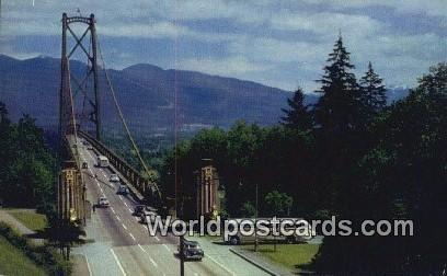 Lions Gate Bridge Vancouver British Columbia, Canada Unused