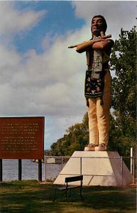 The Indian-Riverside Park Hiawatha Image La Crosse Wisconsin WI Chrome