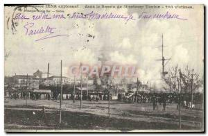 Old Postcard The Jena armor exploding in the Toulon basin Missiessy